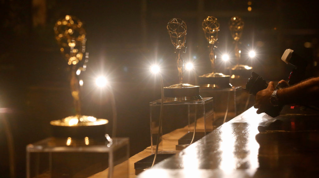 Emmy Awards are pictured at the engraving station during a preview of this year's Governors Ball for the 68th Emmy Awards in Los Angeles, California U.S., September 14, 2016.   REUTERS/Mario Anzuoni