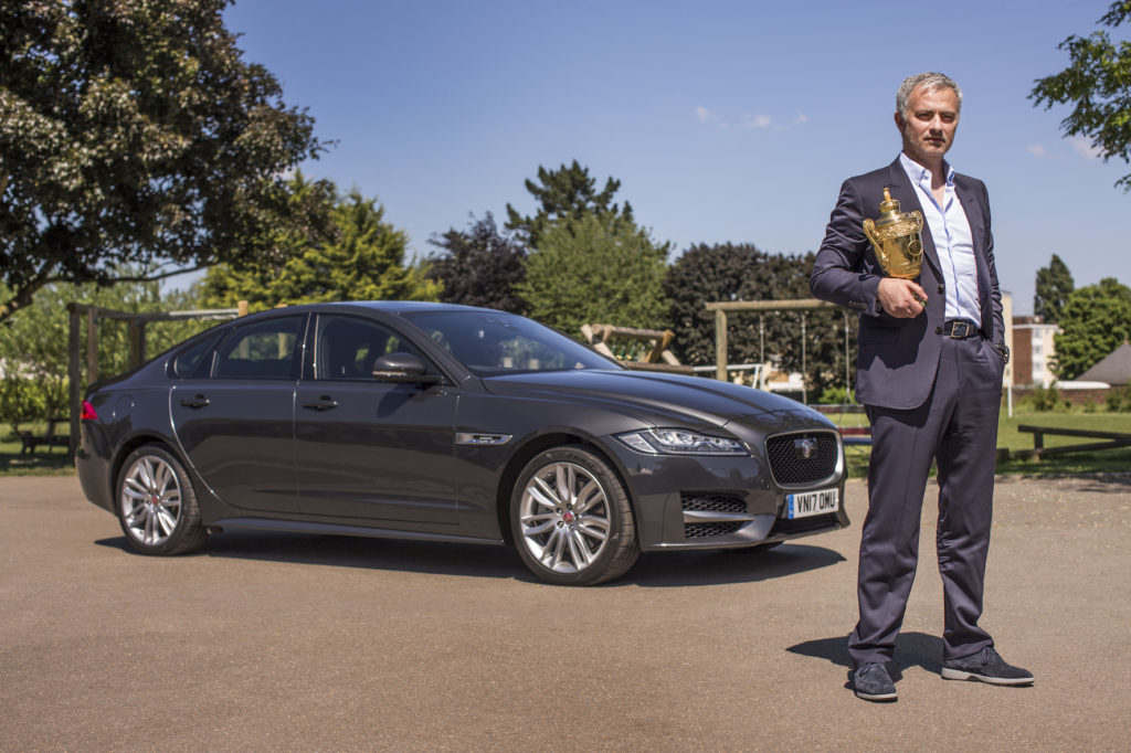 Jose Mourinho with the Jaguar F Pace and some behind the scenes from his filming with the XF